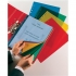 Esselte Coloured Pocket Polypropylene Multipunched Top-opening A4 Red Ref 47203 [Pack 10]