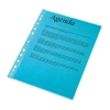 Esselte Coloured Pocket Polypropylene Multipunched Top-opening A4 Blue Ref 47205 [Pack 10]