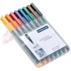 Staedtler 317 Lumocolor Pen Permanent Medium 1.0mm Assorted Ref 317WP8 [Wallet 8]