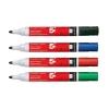 5 Star Drywipe Marker Xylene/Toluene-Free Bullet Tip 3mm Line Assorted [Pack 12]