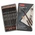 Derwent Graphic Pencils Designer Graphite 6B-4H Ref 34214 [Pack 12]