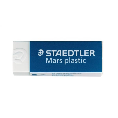 Staedtler Mars Plastic Eraser Premium Quality Self-cleaning 65x23x13mm Ref 52650BK2DA [Pack 2]
