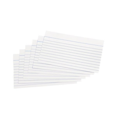 5 Star Record Cards Ruled Both Sides 5x3in 127x76mm White [Pack 100]