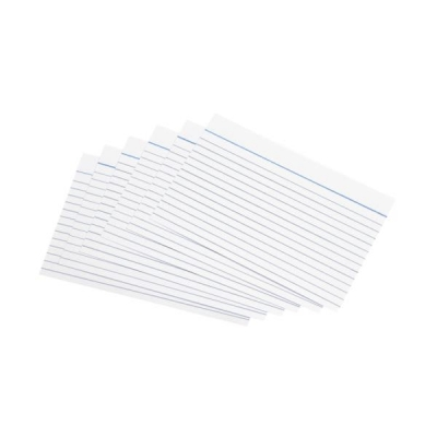 5 Star Record Cards Ruled Both Sides 155gsm 6x4in 152x102mm White [Pack 100]