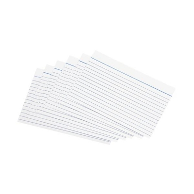 5 Star Record Cards Ruled Both Sides 8x5in 203x127mm White [Pack 100]