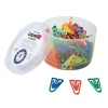 Paperclips Plastic Non Magnetising 60mm Assorted Colours [Pack 75]
