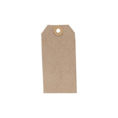 Tag Label Unstrung 108x54mm Buff [Pack 1000]