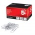 5 Star Paperclips Metal Large 33mm Plain [Pack 100]