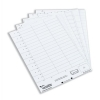 Rexel Crystalfile Card Inserts for Suspension File Tabs Sheet of 50 White Ref 78050