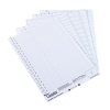 Rexel Crystalfile Classic Inserts Card for 275mm Lateral File Tabs White Ref 78370 [Pack 50]