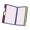 Wall Display Unit Polypropylene with Tabs and Brackets 10 Panels A4 Assorted