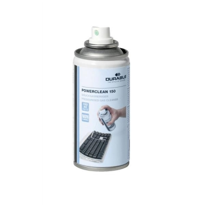 Durable Powerclean Air Duster Gas Cleaner Non-Flammable CFC Free Ozone Friendly 150ml Ref 5715