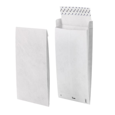 Tyvek Gusseted Envelopes Extra Capacity Strong B5 H250xW176xD38mm White Ref 11840 [Pack 100]