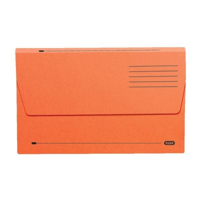 Elba Document Wallet Half Flap 310gsm Capacity 30mm Foolscap Orange Ref 100090241 [Pack 50]