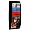 Literature Holder Wall Mount 4 x A4 Pockets Black