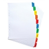 Elba Dividers Europunched 1-10 with Coloured Tabs A4 White Ref 100204614