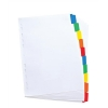 Elba Dividers Europunched 10-Part with Coloured Tabs A4 White Ref 100204941