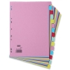 Elba Card Dividers Europunched 15-Part A4 Assorted Ref 400007437