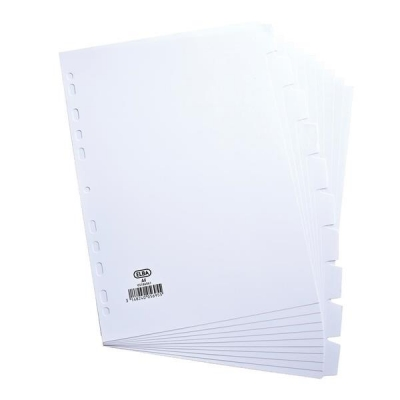Elba Dividers Europunched 10-Part A4 White Ref 100204881