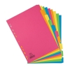 Elba Bright Card Dividers Europunched 5-Part A4 Assorted Ref 400008249