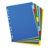 Elba Polypropylene Dividers Europunched A4 10 Part Multicoloured Ref 100205063