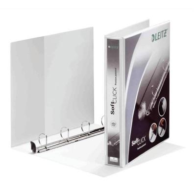 Leitz Softclick Presentation Ring Binder Polypropylene 4 D-Ring 40mm A4 White Ref 42030001 [Pack 4]