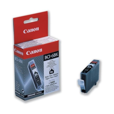 Canon BCI-6BK Inkjet Cartridge Page Life 280pp Black Ref 4705A002