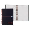 Black n Red Book Wirebound 90gsm Ruled and Perforated 140pp A6 Ref 100080448 [Pack 5]