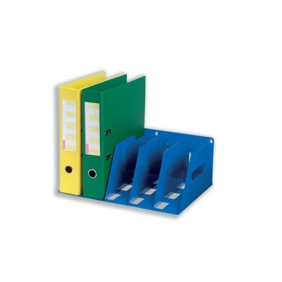 Lever Arch Filing Rack Portable Rigid Metal W425xD300xH160mm Blue