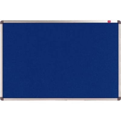 Nobo Classic Noticeboard Felt with Aluminium Frame W1200xH900mm Blue Ref 1900916