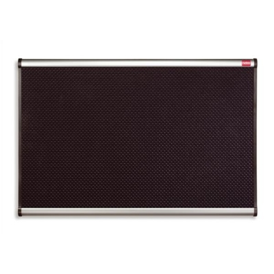 Quartet Prestige Noticeboard High-density Foam with Aluminium Finish W900xH600mm Black Ref QB343A