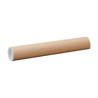 Postal Tube Cardboard with Plastic End Caps L940xDia.76mm [Pack 12]