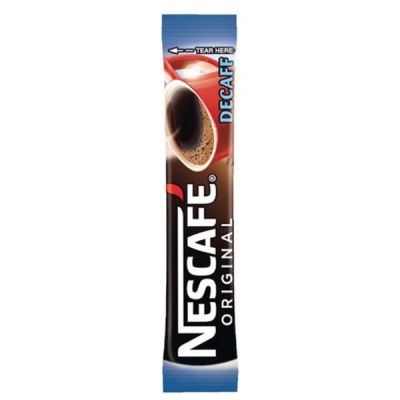 Nescafe Original Instant Coffee Granules Decaffeinated Stick Sachets Ref 12138013 [Pack 200]