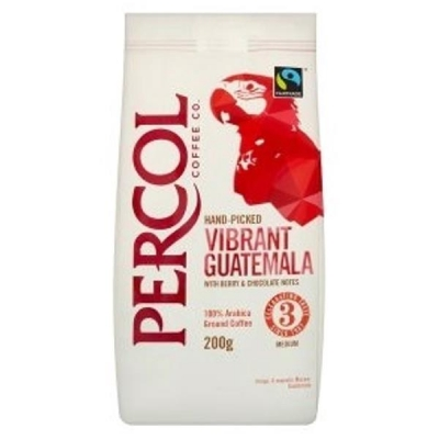 Percol Fairtrade Guatemala Ground Coffee Medium Roasted 200g Ref A07933