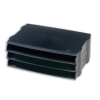 Avery DTR Letter Tray Wide Entry Stackable Black Ref DR800BLK [Pack 3]