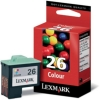 Lexmark No. 26 Inkjet Cartridge Page Life 275pp Colour Ref 10N0026