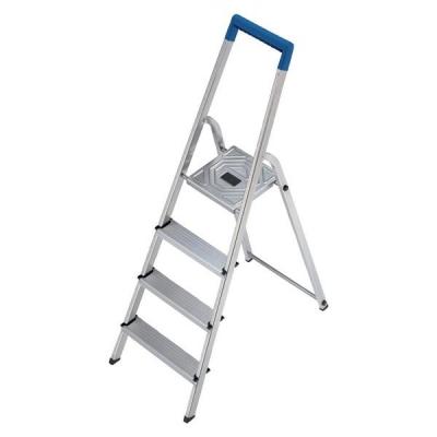 Folding Aluminium Ladder 4 Non Slip Ribbed Steps 3.9kg