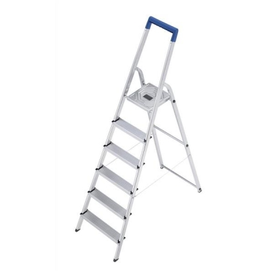 Folding Aluminium Ladder 6 Non Slip Ribbed Steps 5.5kg