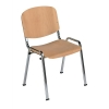Trexus Stacking Chair Chrome Frame with Wooden Seat W460xD400xH450mm Beech