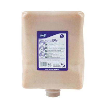 DEB Natural Power Wash Hand Soap Refill Cartridge 4 Litre Ref N03862