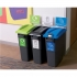 EcoSort Recycling System Maxi Bin 70 Litre Capacity Anthracite Grey Ref SPICEMAXGREY1