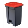 EcoStep Bin 45 Litre Red Lid Grey Ref SPICEECO45STEP1