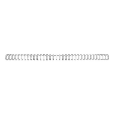 GBC Binding Wire Elements 34 Loop for 55 Sheets 6mm A4 Silver Ref RG810497 [Pack 100]