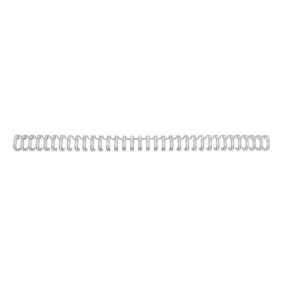 GBC Binding Wire Elements 34 Loop for 70 Sheets 8mm A4 Silver Ref RG810597 [Pack 100]