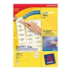 Avery Mini Labels Inkjet 65 per Sheet 38.1x21.2mm Clear Ref J8551-25 [1625 Labels]
