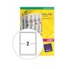 Avery Heavy Duty Labels Laser 2 per Sheet 199.6x143.5mm White Ref L7068-20 [40 Labels]