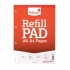 Silvine Refill Pad Headbound Perforated Punched Feint Ruled Margin 160pp 75gsm A4 Ref A4RPFM [Pack 6]