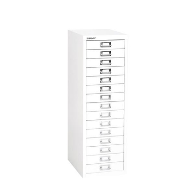 Bisley SoHo Multidrawer Cabinet 15-Drawer H860mm Chalk White Ref H3915NL-26