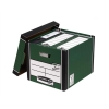 Bankers Box by Fellowes Premium 726 Archive Storage Box Green and White Ref 7260802 [Pack 10]