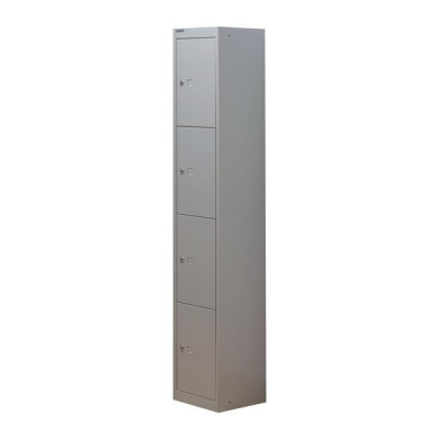 Bisley Locker Steel 4-Door W305xD305xH1802mm Goose Grey Ref CLK124-73